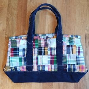 J.Crew Madras Tote Bag, Excellent Used Condition